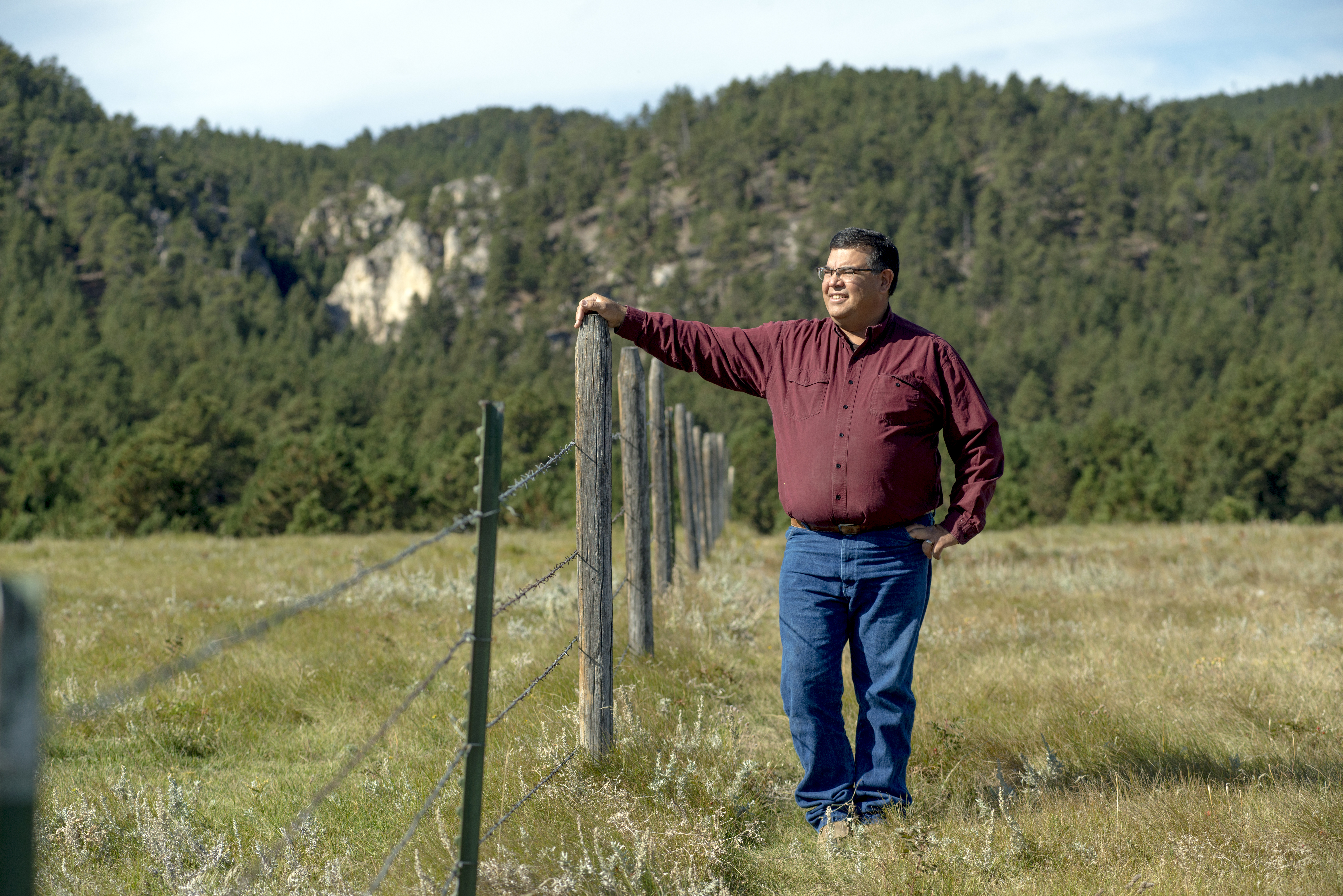 A fifth-generation rancher of the Fort Belknap Indian Reservation, Crasco has installed wildlife-friendly fencing.