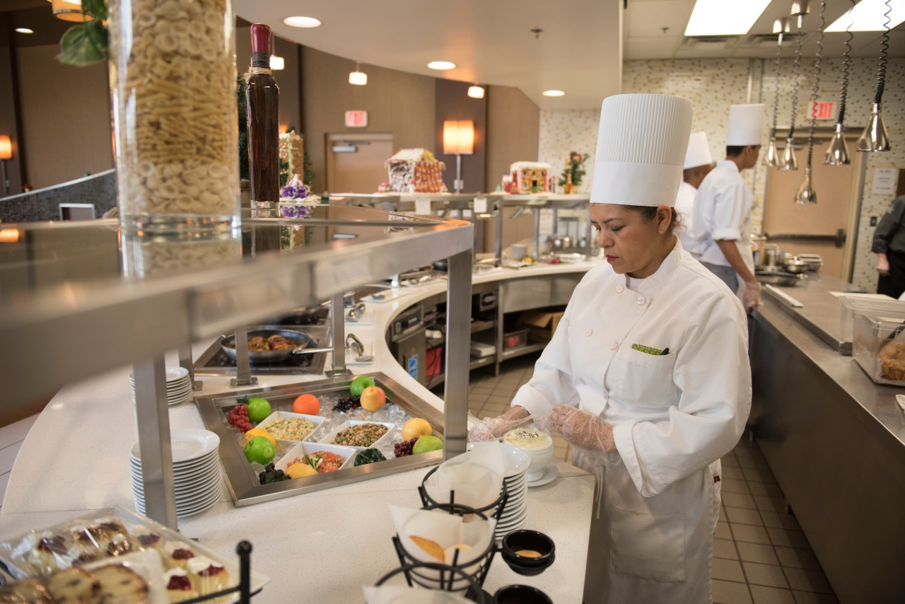 Student Imelda Mendez de Rodriguez prepares to open for lunch at Westside Bistro at the Culinary Academy of Las Vegas.