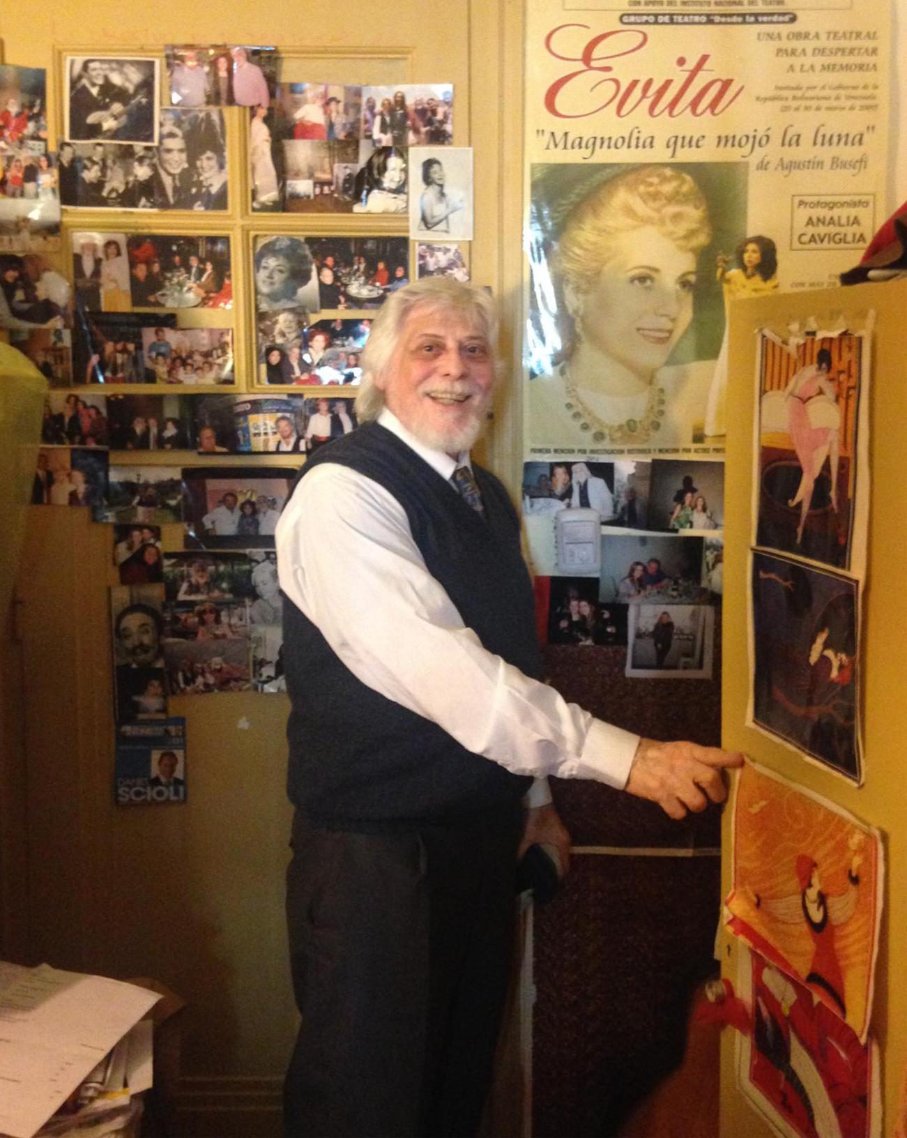 Agustin Busefi in his room. (Photo by Tara Isabella Burton)