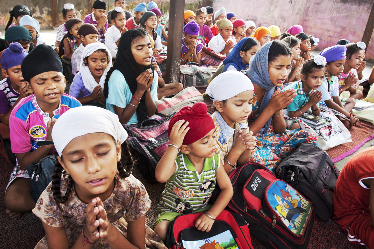 The tuition center in Meerpur village, Gurdaspur district, educates children and introduces them to Sikhism. It has more than 150 students.
