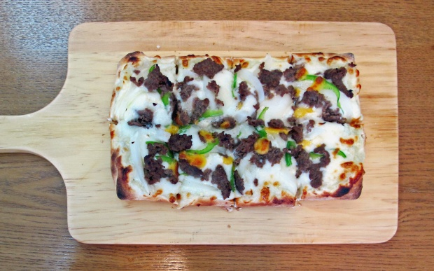 Jisoo Kim's bulgogi pizza. (Photo by Annette Ekin)