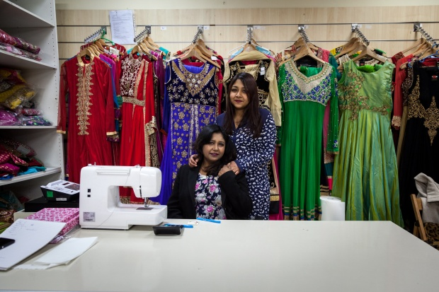 Milva Shah and her mother, Laila, in Laila's boutique.