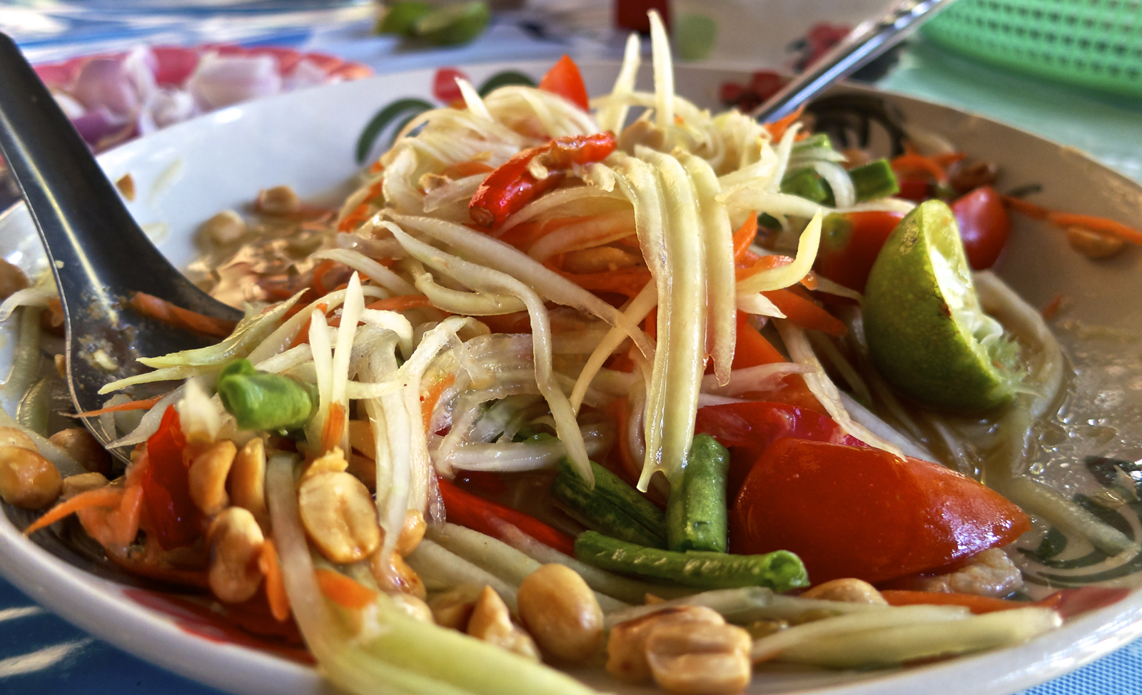 Papaya salad at Khao Soi Lam Duan.