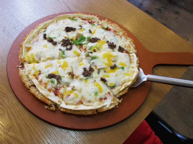 Nurungi pizza made by Jisoo Kim's mother Alice. (Photos by Annette Ekin)