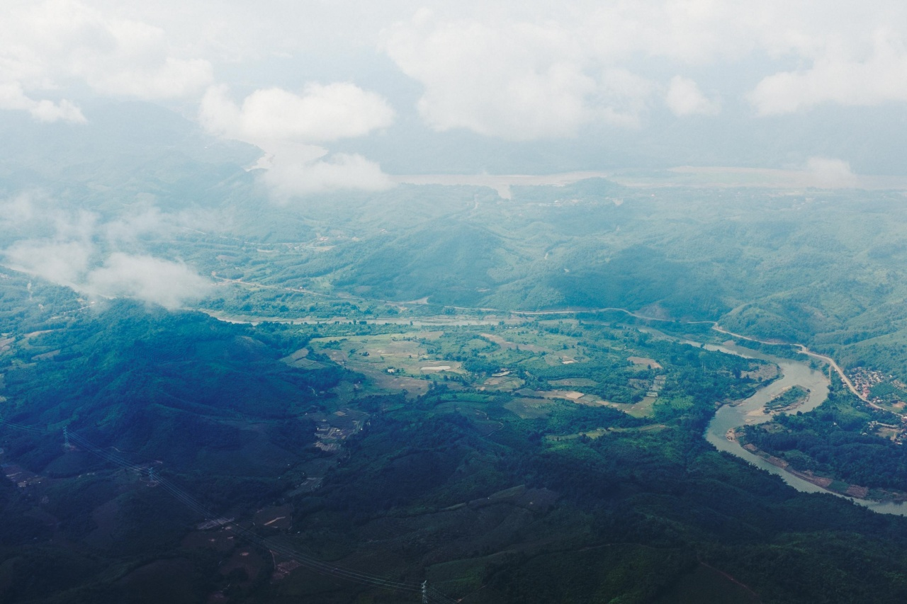 Flying into Luang Prabang.
