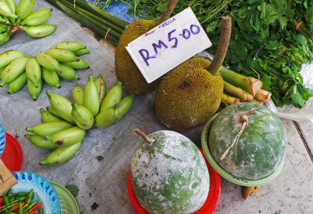 Tarap, bananas and durian. (Photo by Mark Hay)