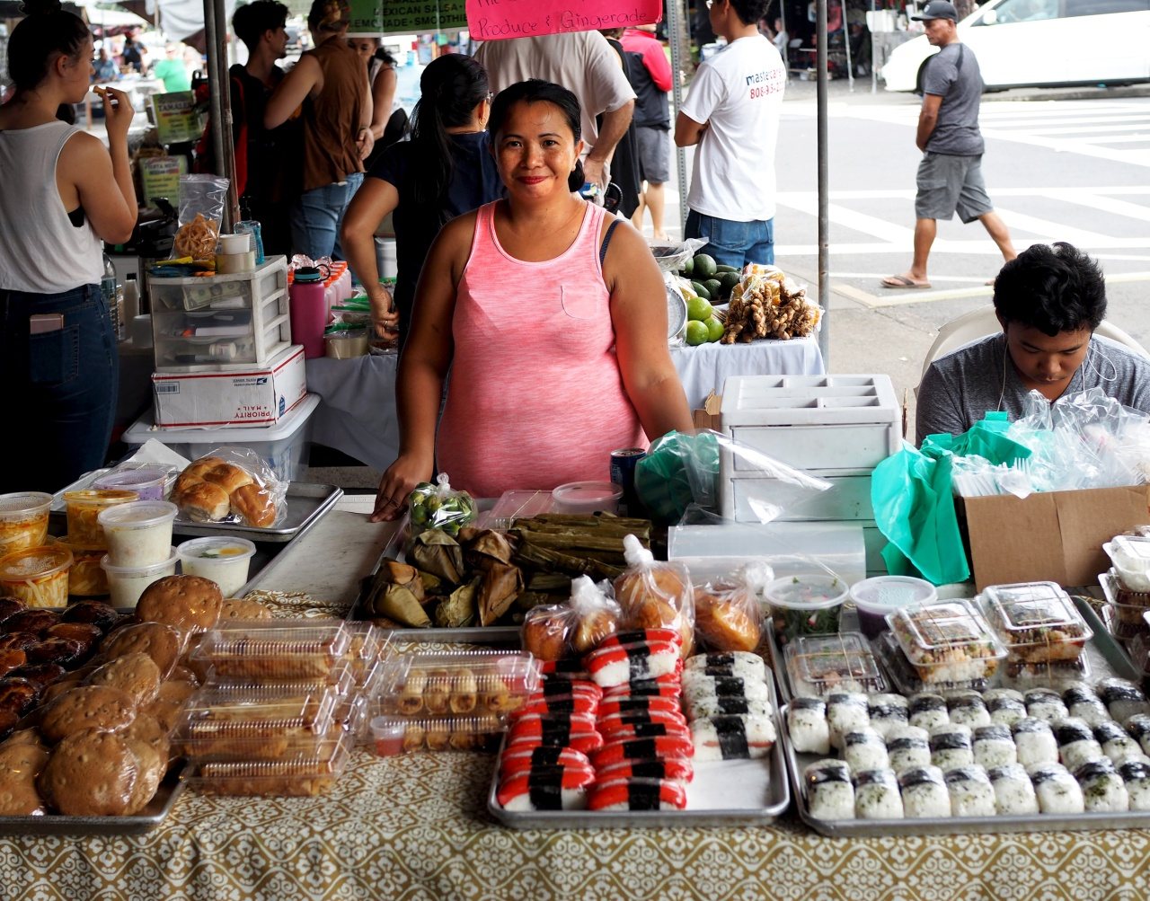 A stall at the Hilo Farmer's Market.