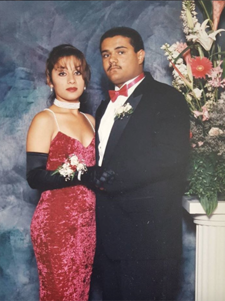 1: Maricela and Mando at Santa Monica High School's 1993 prom (Photo courtesy of @madeinsamo/Veteranas and Rucas) / 2: Marible in Santa Ana in 1997 (Photo courtesy of @calypssoo/Veteranas and Rucas)