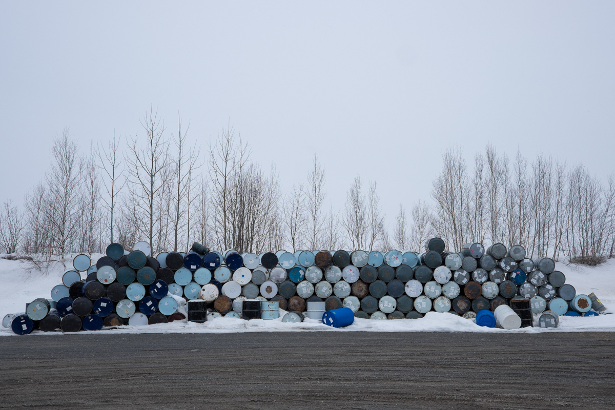 Discarded barrels that may have been recovered from the theft in 2012.