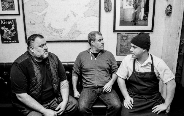L to R: David McMillan, Fred Morin, and Marc-Olivier Frappier (Photo courtesy of Vin Papillon)