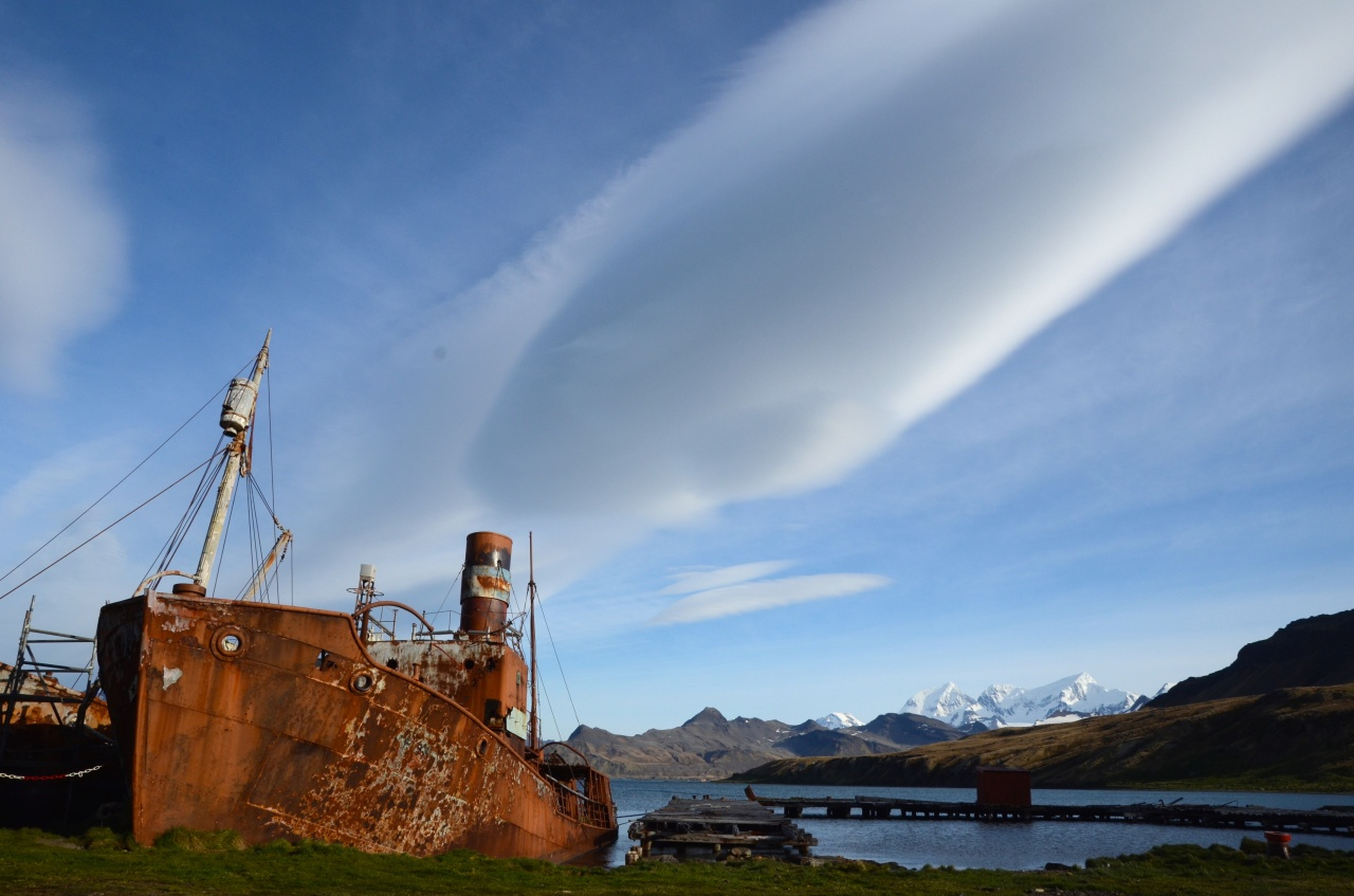 A former whale catcher on Grytviken, South Georgia.