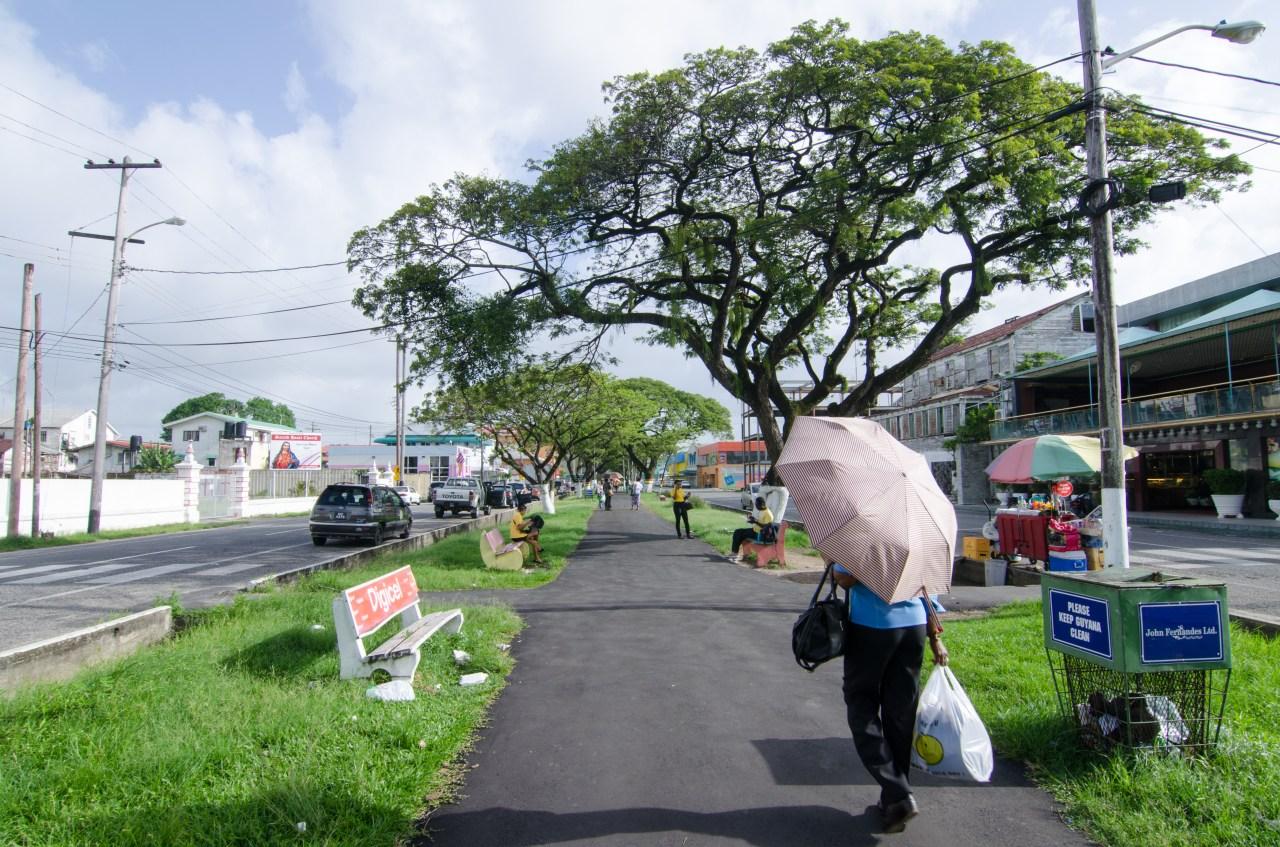 Main Street in Georgetown, the capital of Guyana.