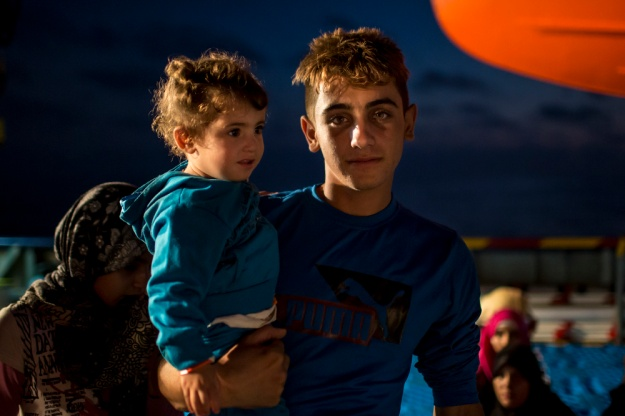 Young Syrians on board the Topaz Responder.