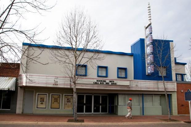 The Alamo Theater on Historic Farish Street, Jackson.