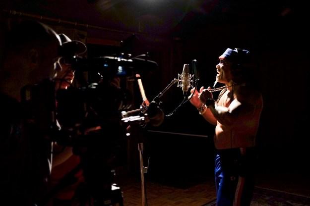 Grandmaster Melle Mel at work in the studio.