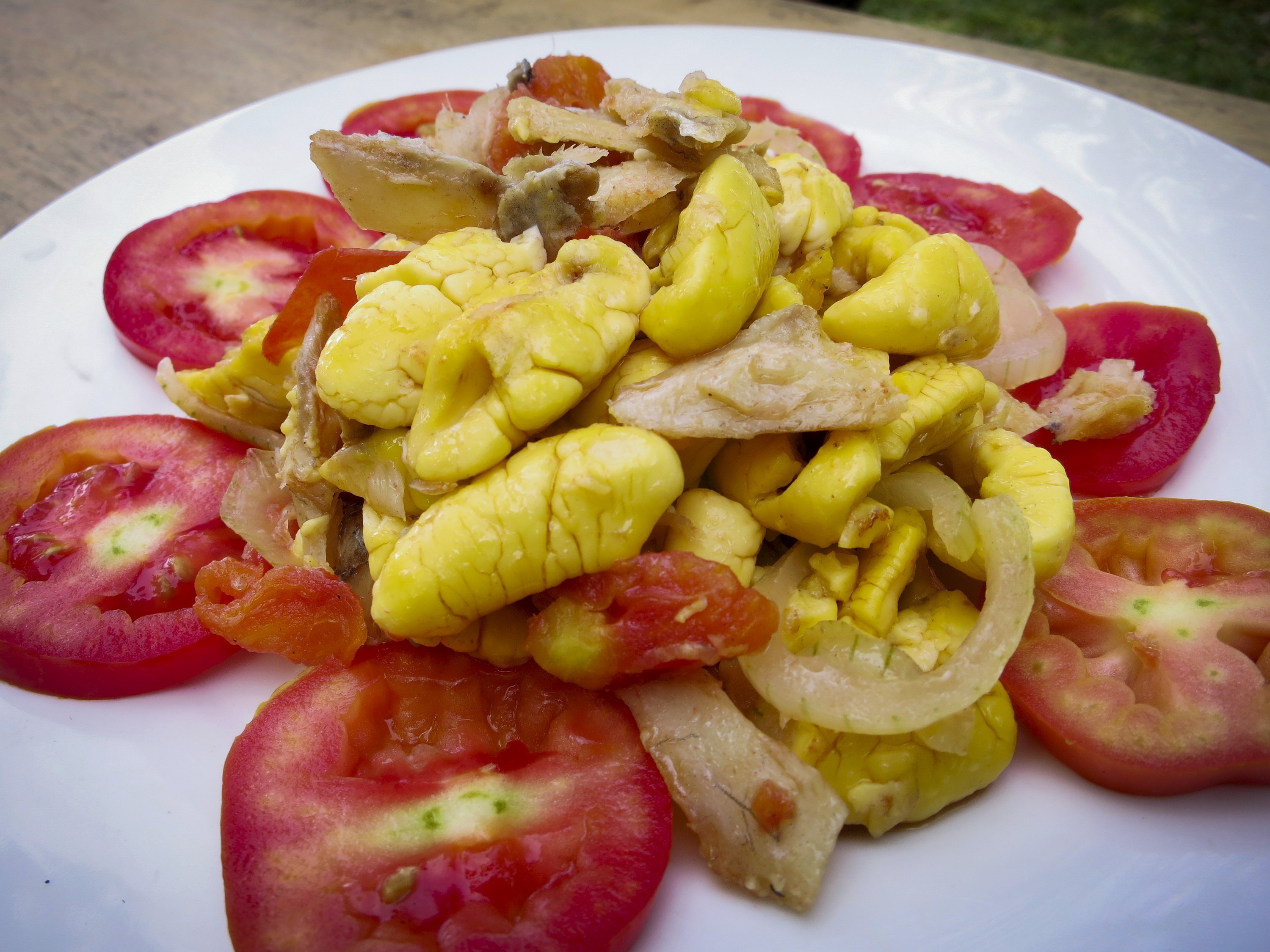 Ackee and salt cod.