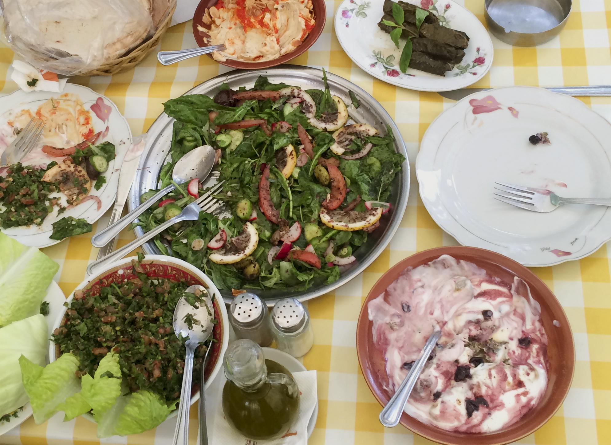 The spread at Al Falamanki.