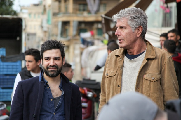 Ramsay Short with Bourdain.