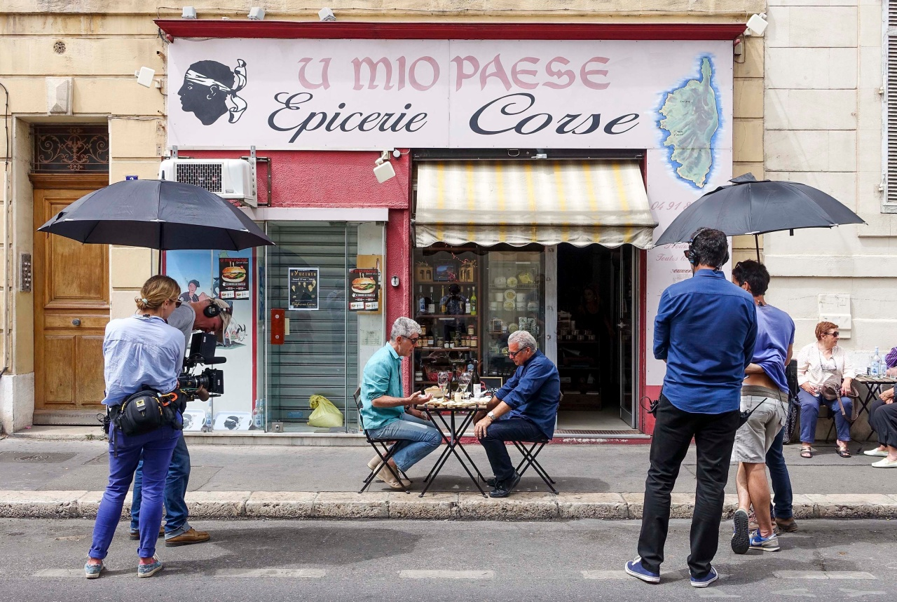 The crew films Tony and Eric at U Mio Paese in Marseille.