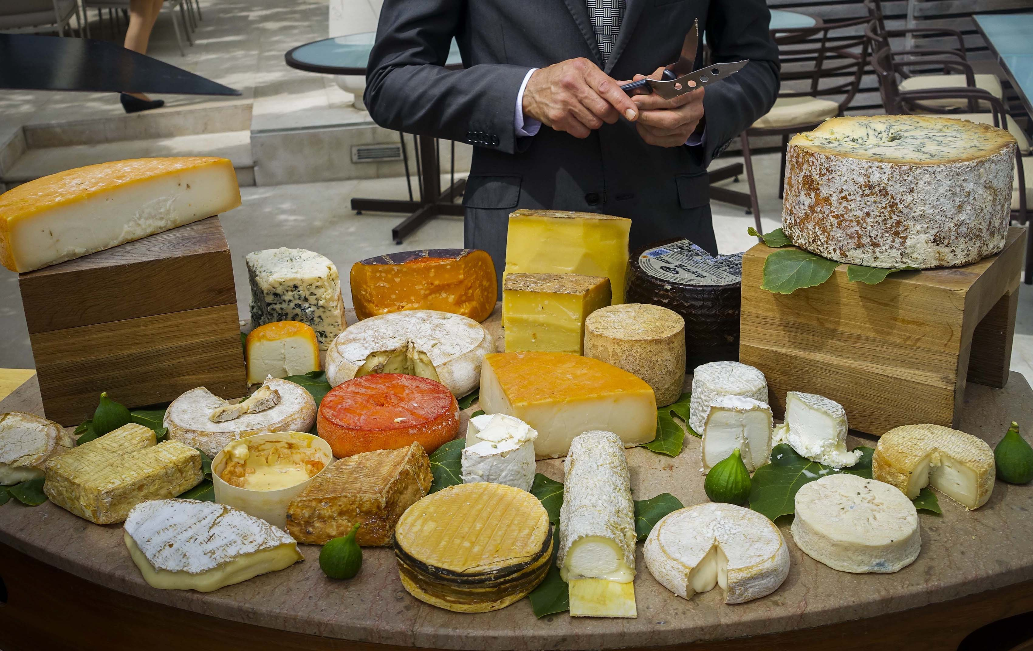 The Cheese Cart at Chef Gerald Passedat's Le Petit Nice in Marseille.