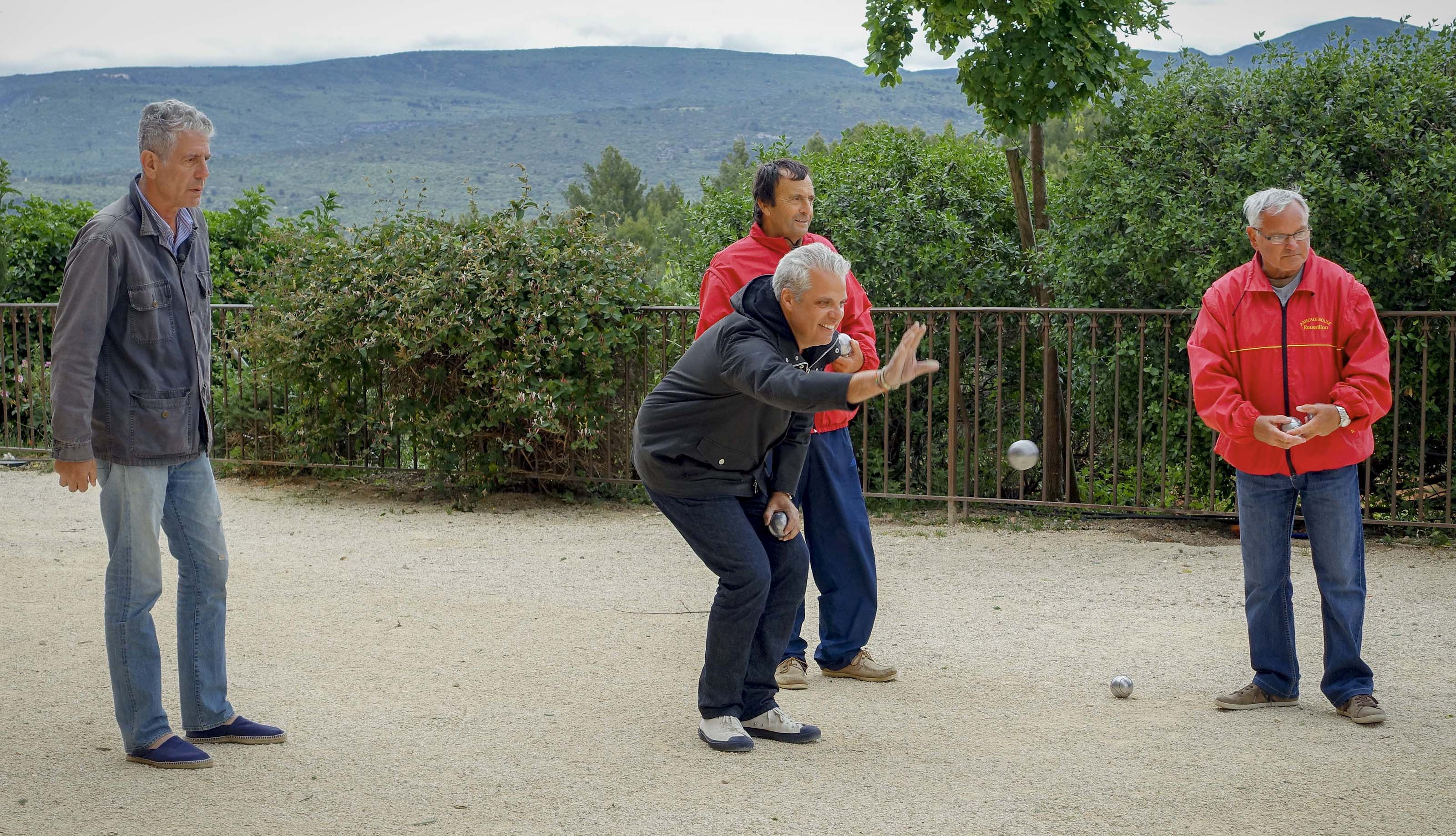 """Bourdain: """"I have no idea how we won this game of petanque."""""""