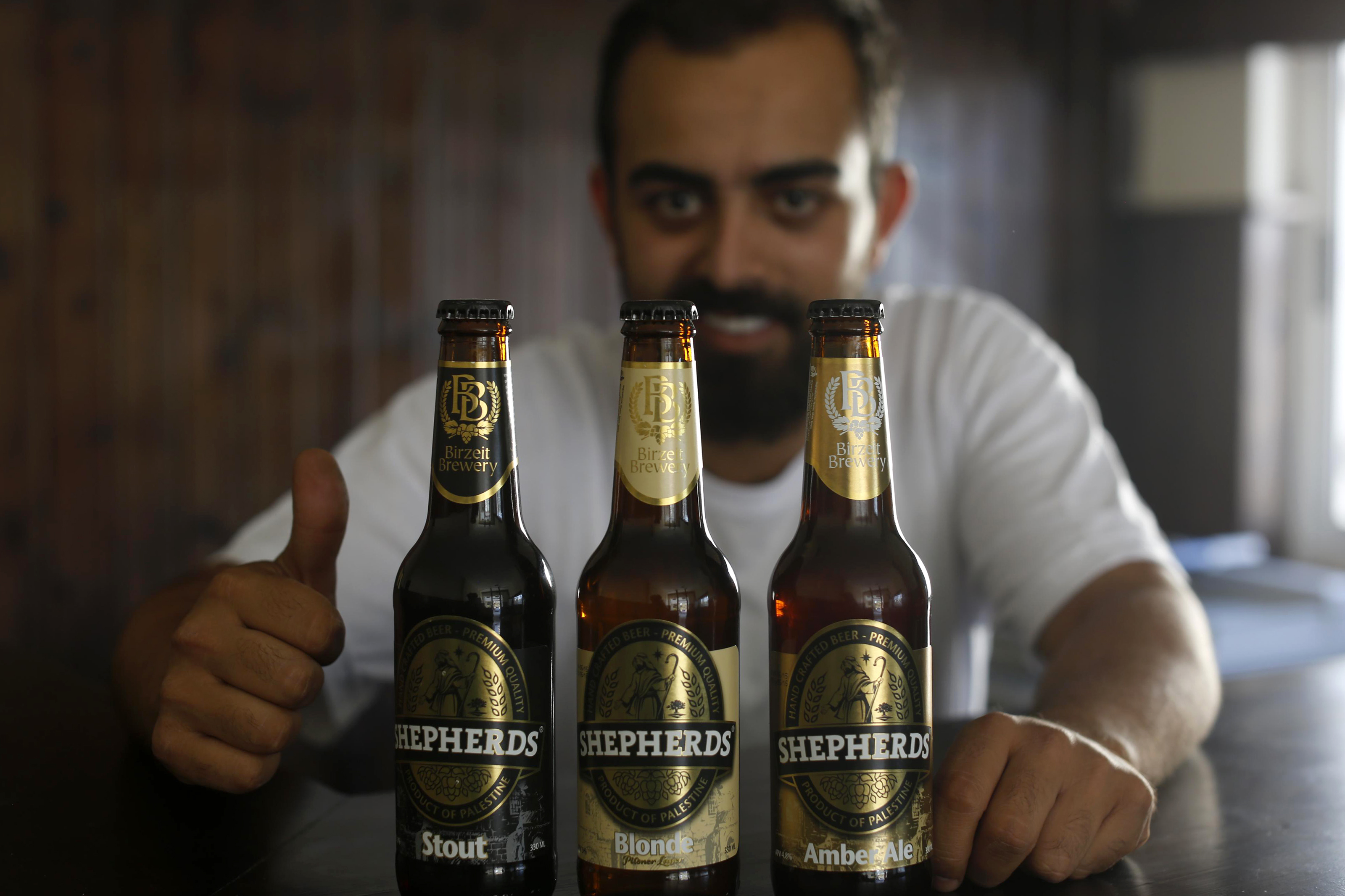Alaa Sayej fell in love with beer while studying in the UK. He started brewing from home and sold some beers to his landlady before returning to Palestine. (Photo courtesy of Shepherds)