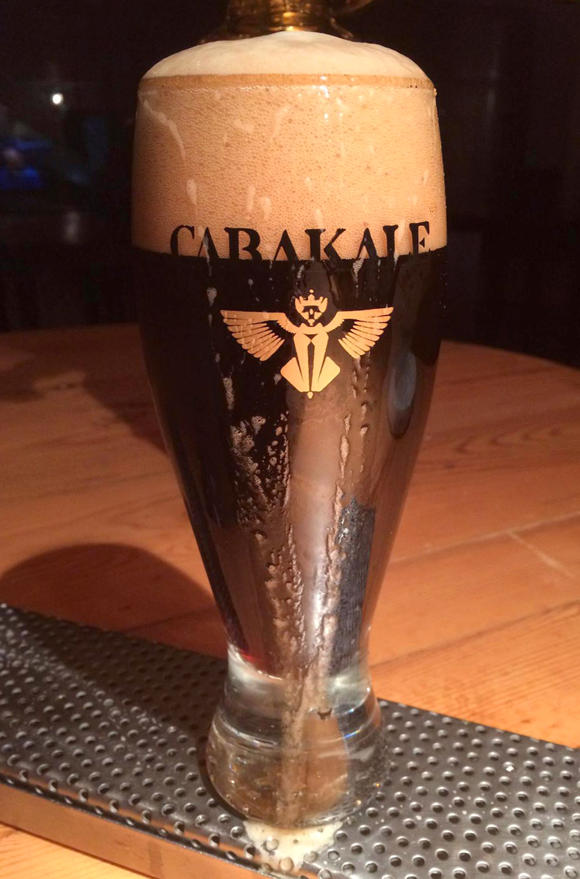 "Carakale currently has a handful of styles of beer like this Mocha Stout, but its founder Yazan Karadsheh plans to become the ""Willy Wonka"" of beer. (Photo courtesy of Carakale)"