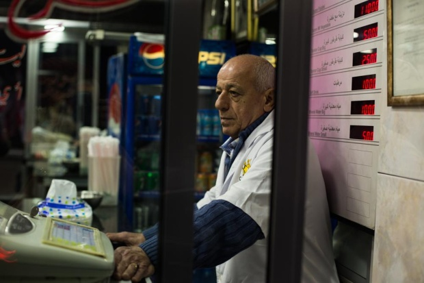 Fouad Sahyoun in his shop.