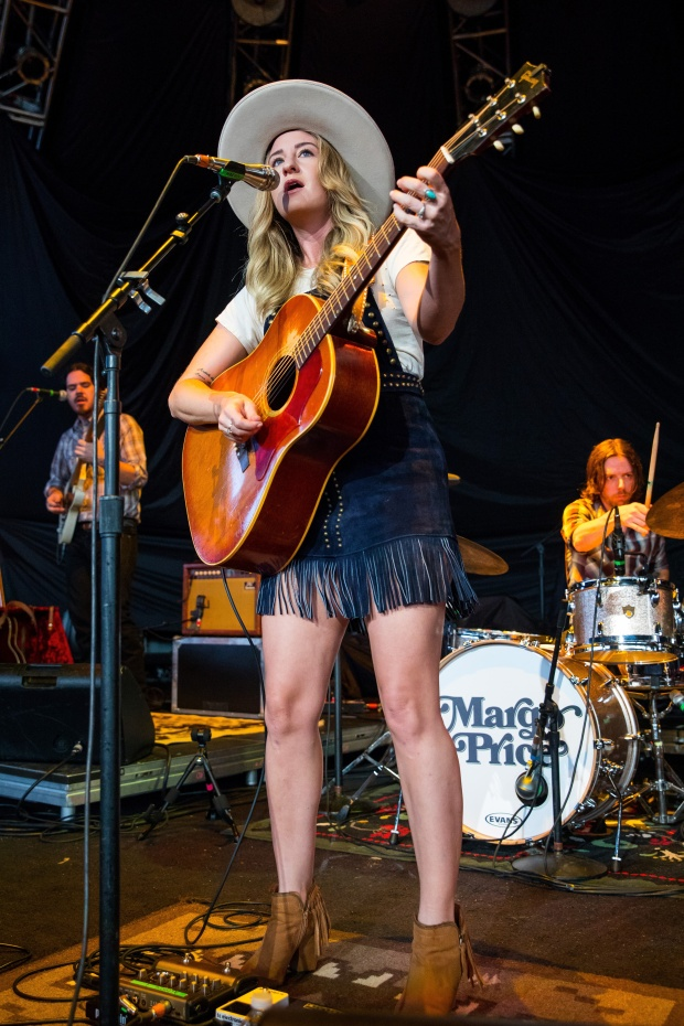 Margo Price and her band the Price Tags, perform at DTE Energy Music Theater in Clarkston, Michigan. (Photo by Scott Legato/Getty Images)