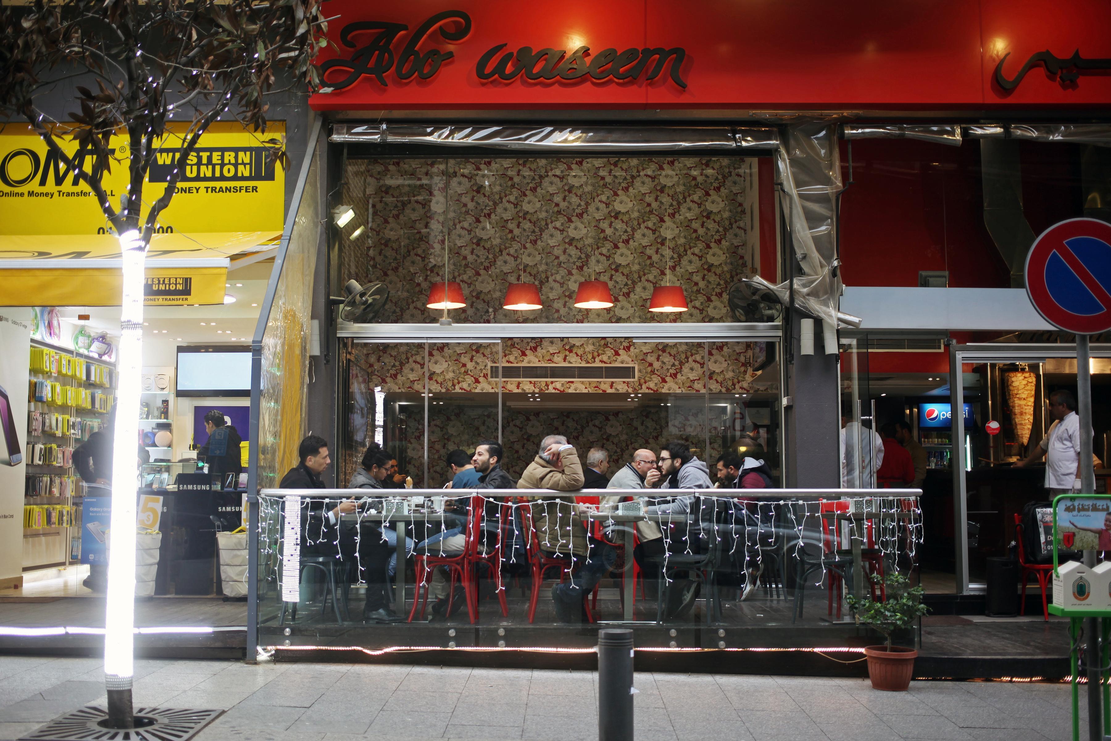 Abu Waseem's restaurant on Hamra street in Beirut.