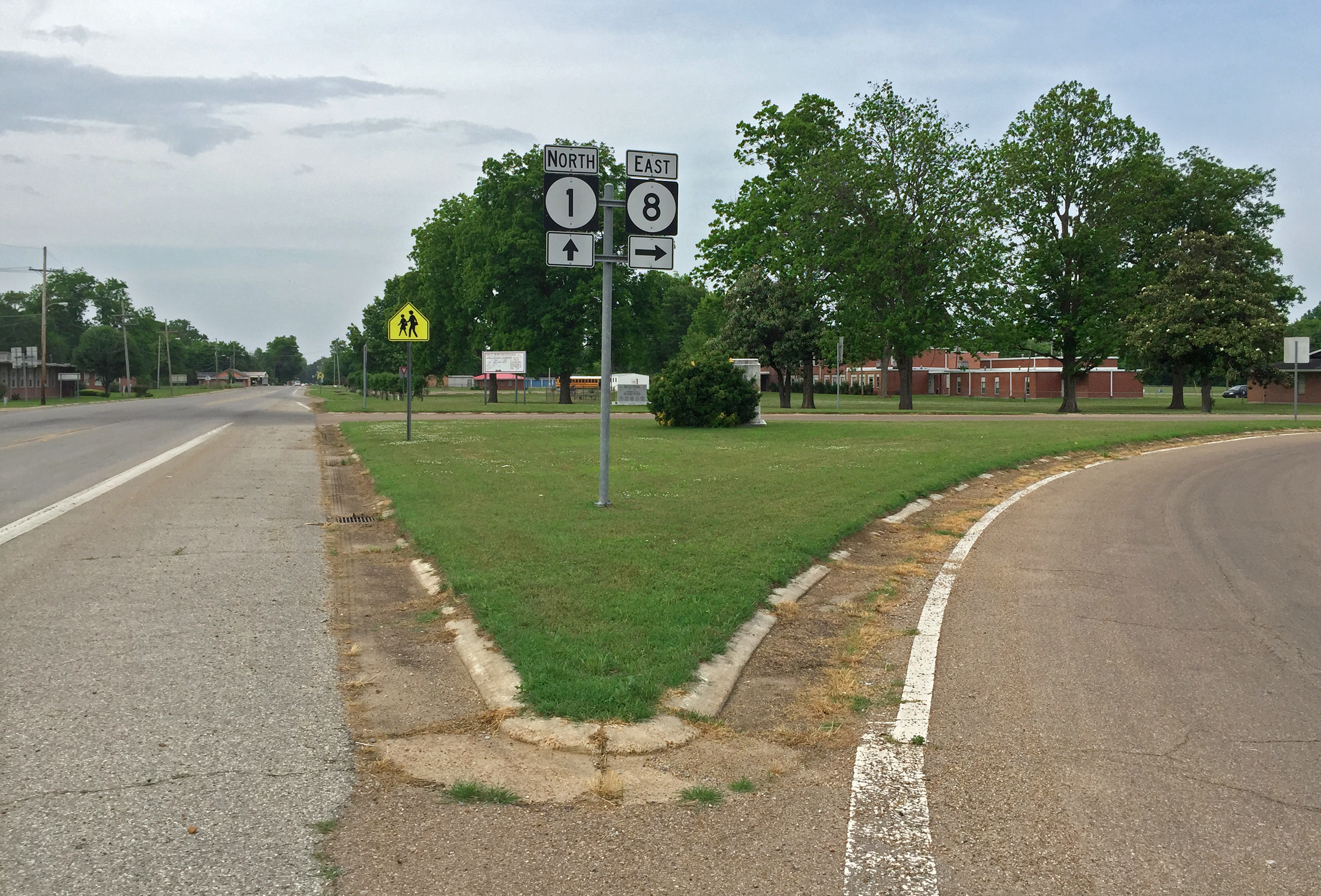 The infamous intersection of Routes 1 and 8 in Rosedale is one of a handful of locations claimed to be the crossroads at which Robert Johnson made his deal with the devil.