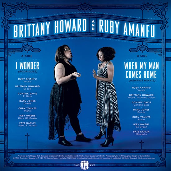 Album art for the Brittany Howard and Ruby Amanfu 7-inch packaging. (Photos courtesy of Third Man Records)