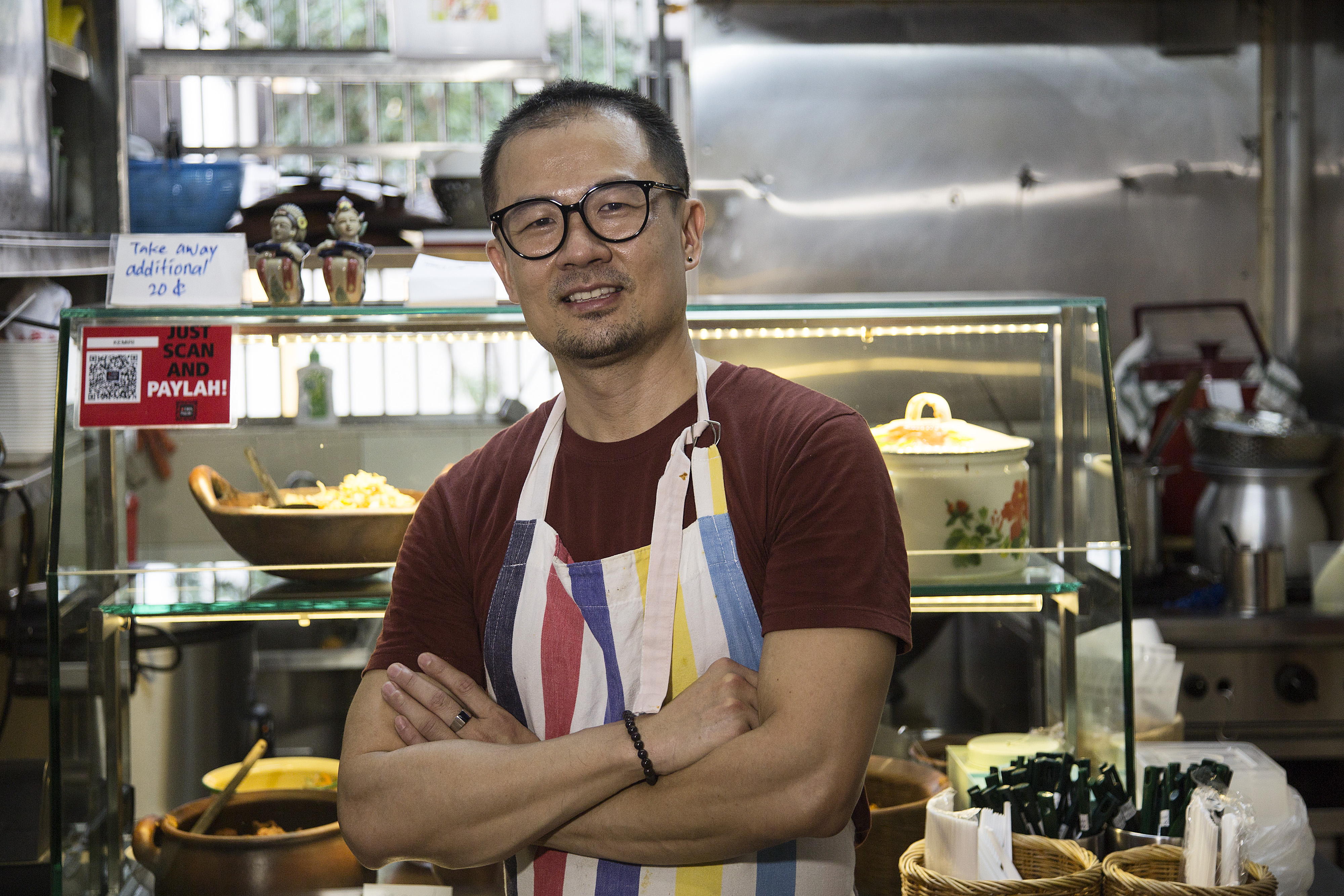 Ken Ng a few months after opening his stall, Kemiri by Aroma Indah.