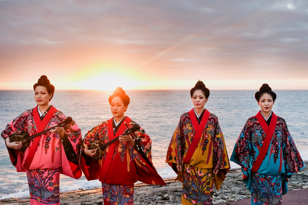 A performance by Nēnēs on a beach in Naha, Okinawa.