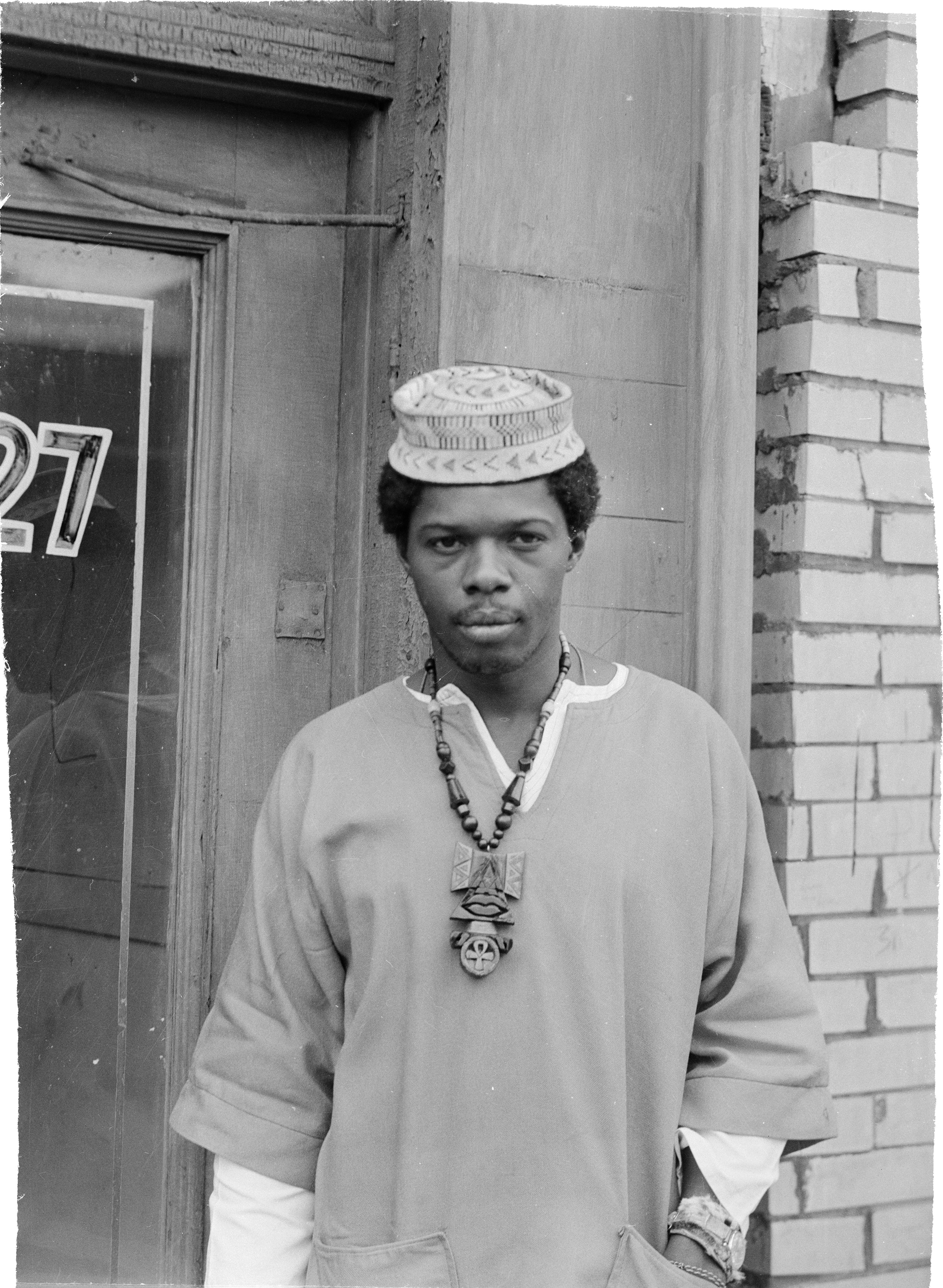 A portrait of Sala Udin in the Hill District c. September 1970. (Photo by Charles 'Teenie' Harris/Carnegie Museum of Art via Getty Images)