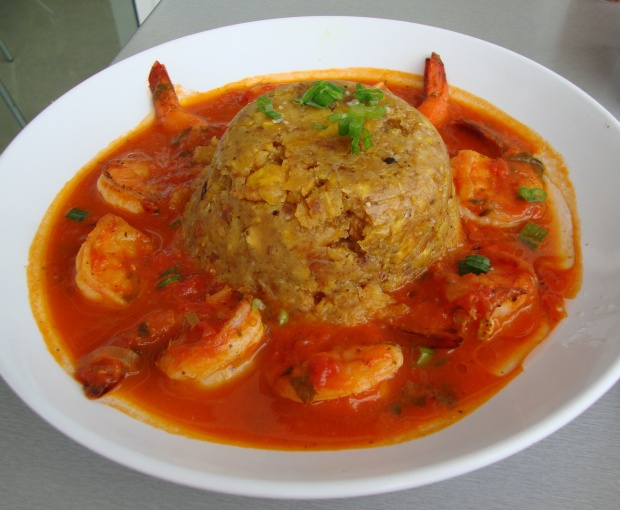 Mofongo served with shrimp. (Photo by Katherine Lynch via flickr.com)