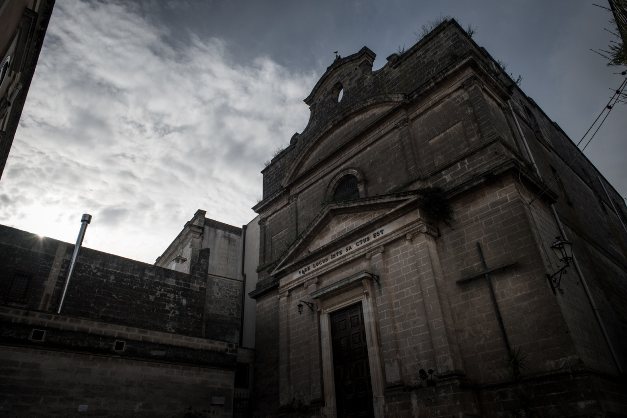 A church in the region of Puglia during Holy Week.