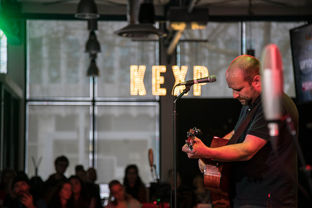 David Bazan performs at KEXP. (Photo by: Patrick Luhrs)