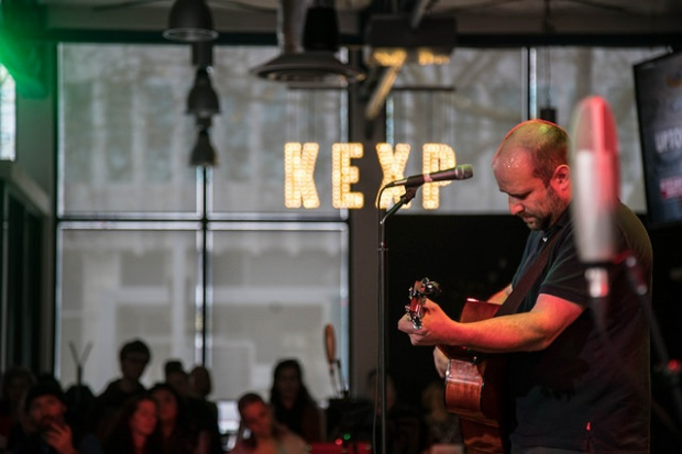 David Bazan performs at KEXP. (Photo by: Patrick Luhrs)