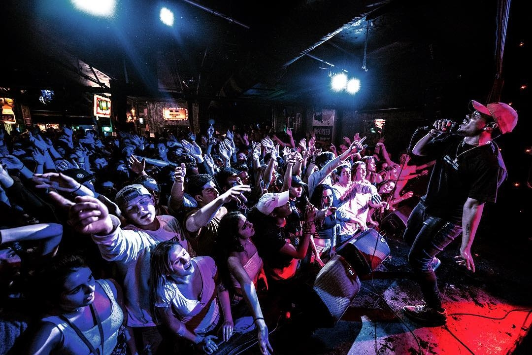 1. Taylor Bennett performs at Chop Suey. (Photo by: Sam Lewis) / 2. The bar at Chop Suey. (Photo courtesy of Chop Suey)