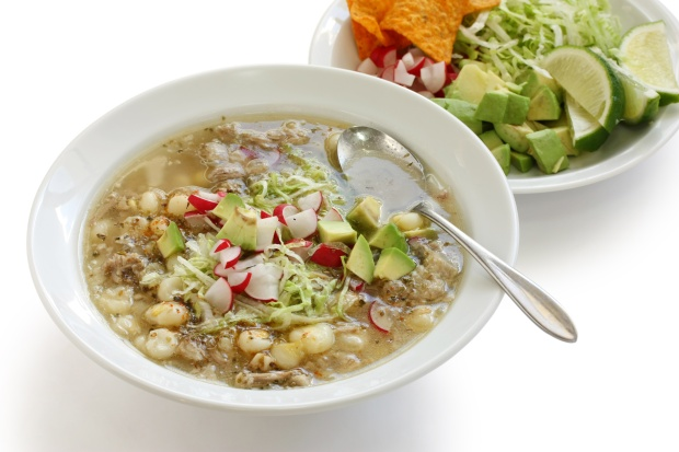 White pozole. (Photo by bonchan via Getty Images)