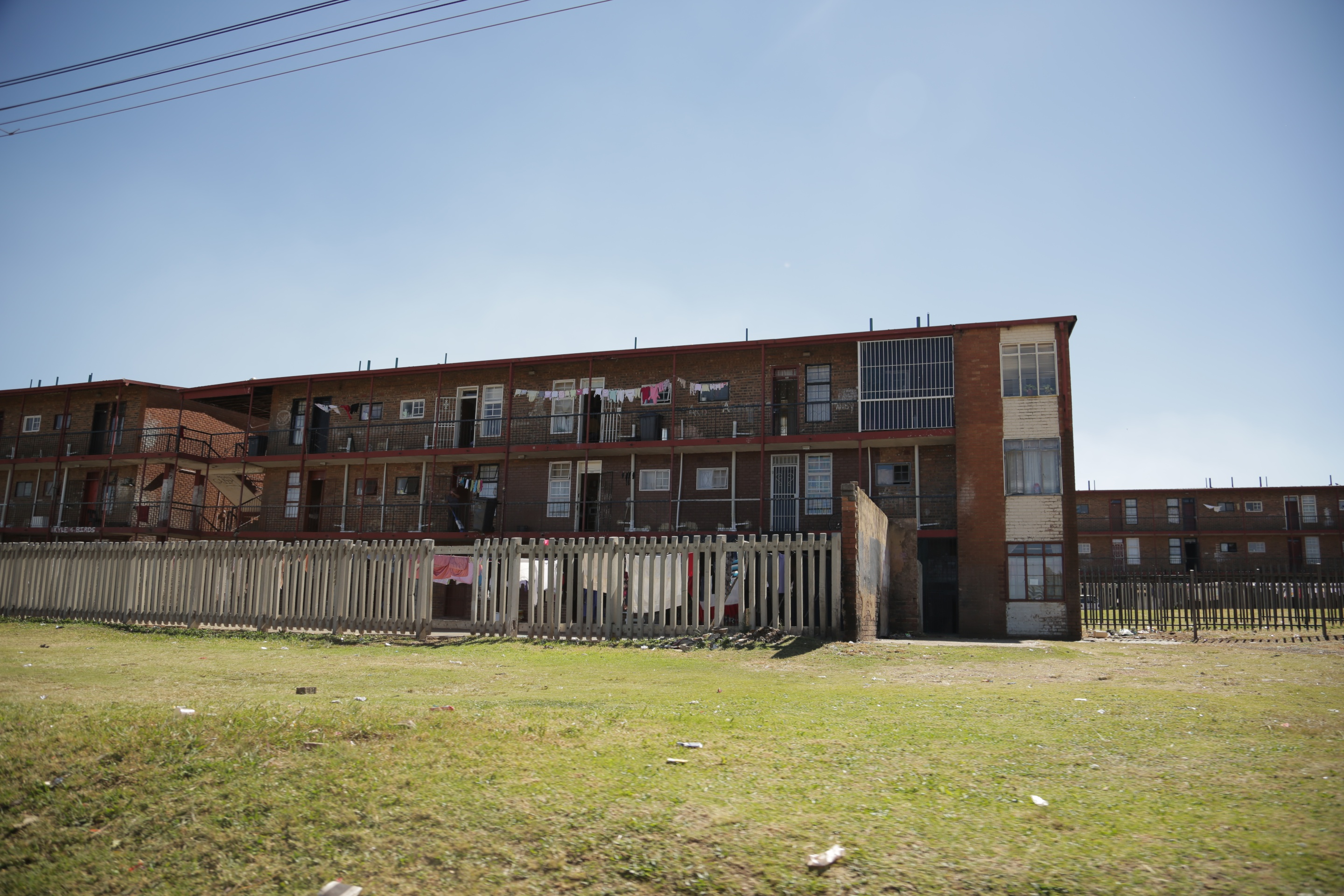 A housing development in El Dorado Park, an area of Soweto where several of The Commandos live with their parents.