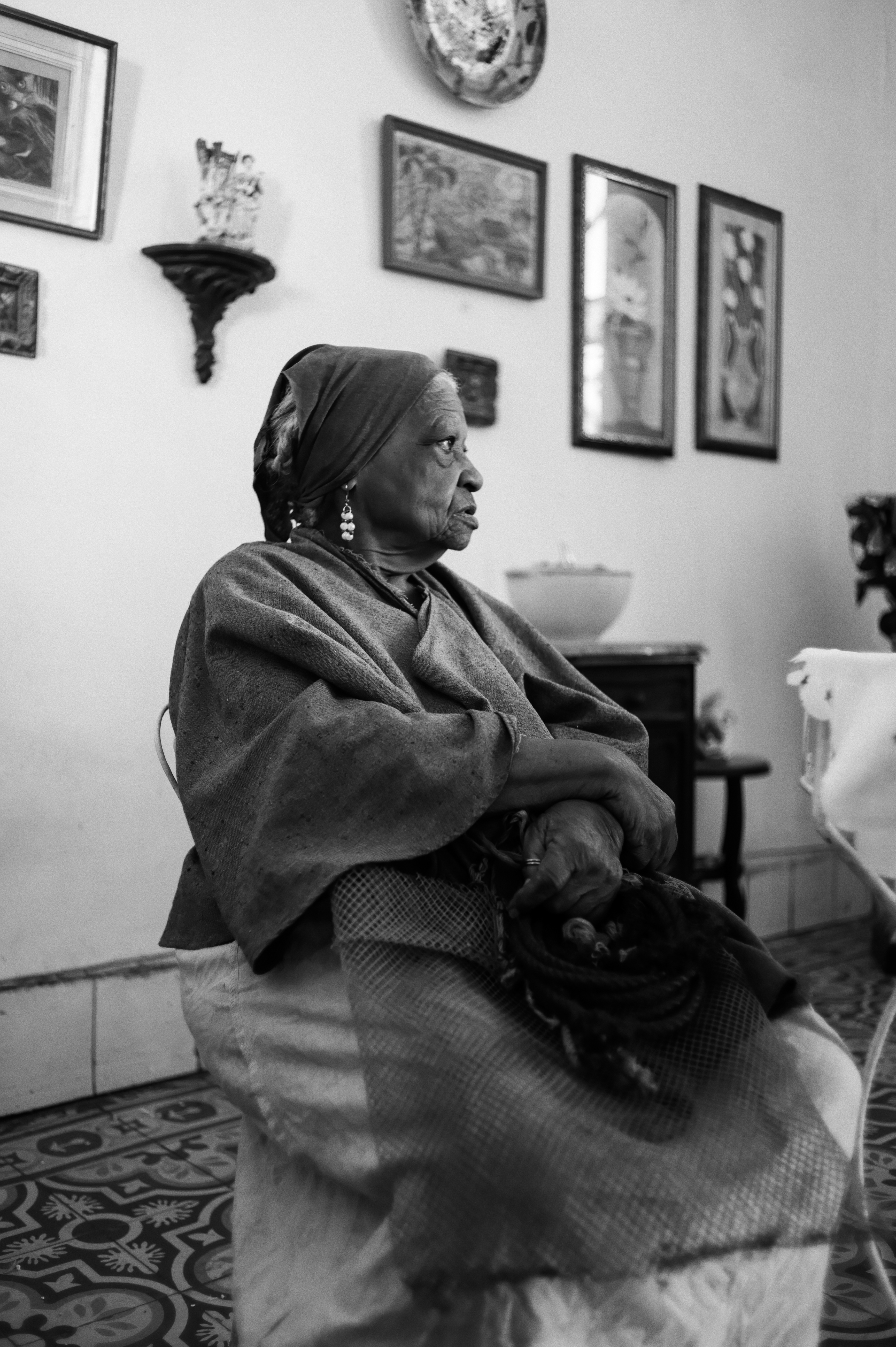 Gladis Castaneda at her home in Central Havana.
