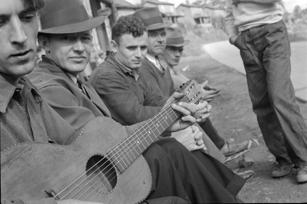 A musician in Scotts Run, October 1935. Photo by Ben Shahn.
