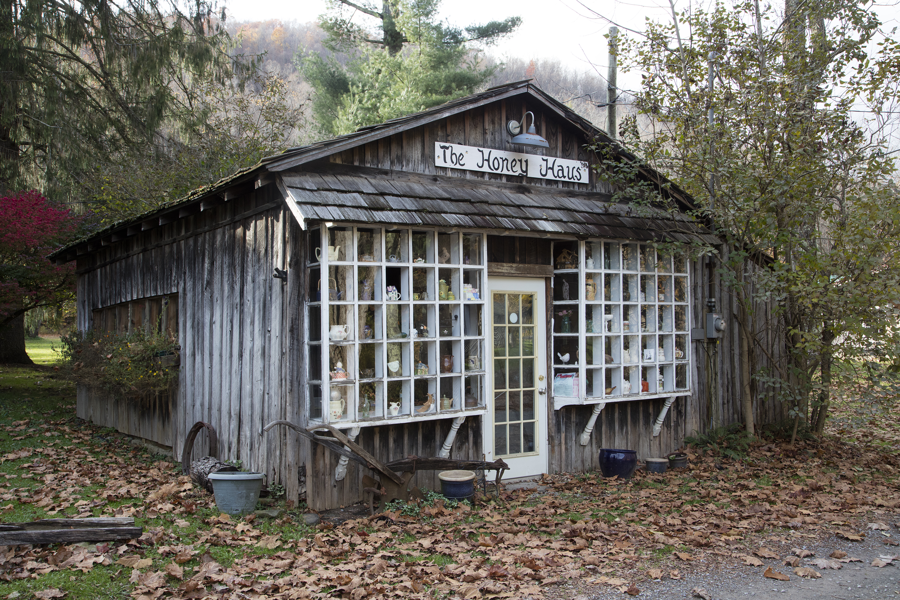 Photo 1: Photo by Andrew Bain via Wikimedia Commons. Photo 2: The Honey Haus located in Helvetia, West Virginia. Photo courtesy of the Library of Congress.