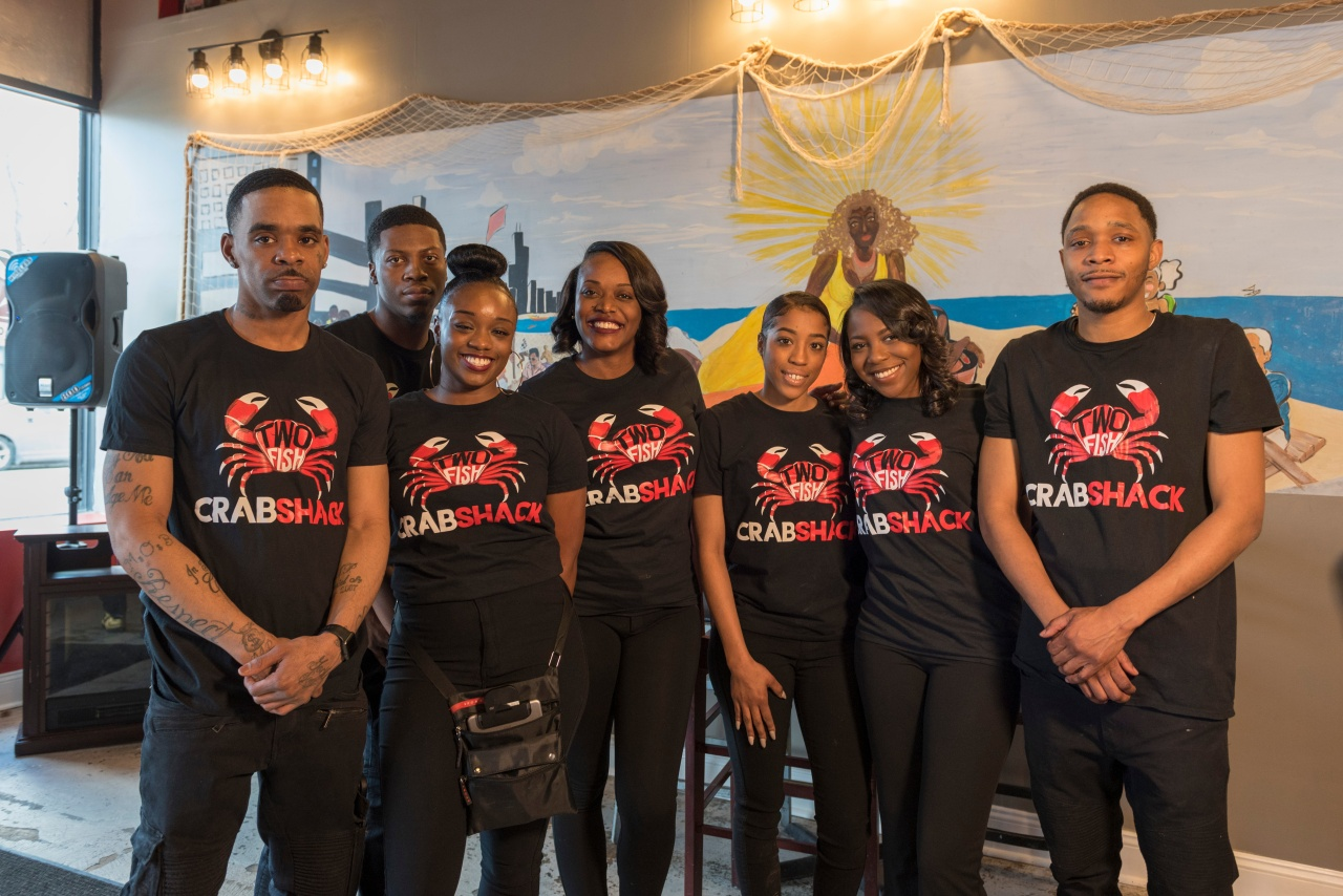 From left to right: David Gordon, Dejon Curtis, Latika Brown, Yasmin Curtis, Paris Randle, Najah Shabazz, and Rasheed Hopkins.