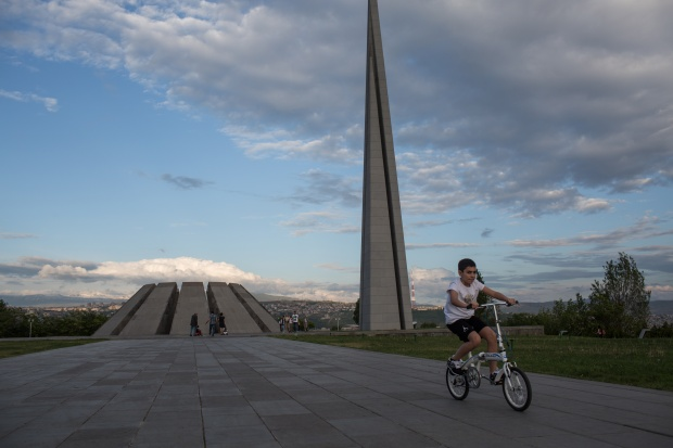 The Armenian Genocide memorial on the hill of Tsitsernakaberd in Yerevan. Photo by Hossein Fatemi.