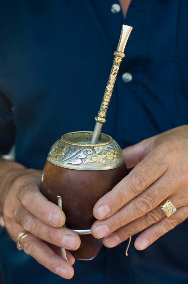 No, it's not some weird form of drinking marijuana. It's for yerba mate. Photo by Alison Wright via Getty Images.