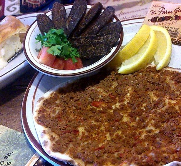 Lahmajoun at Farm Grill in Michigan. Photo from Yelp.