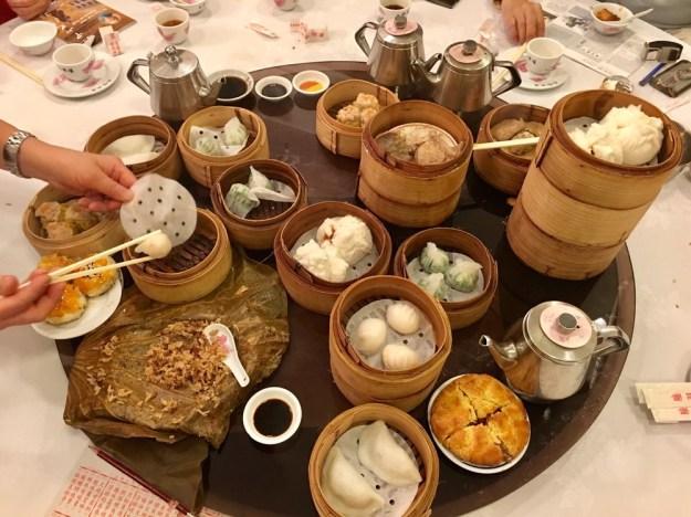 "1: Luk Yu Teahouse menu. Photo by Raymond ""檸檬黃"" H. via Yelp. 2: Dim sum at Luk Yu Teahouse. Photo by Wendy W. via Yelp."